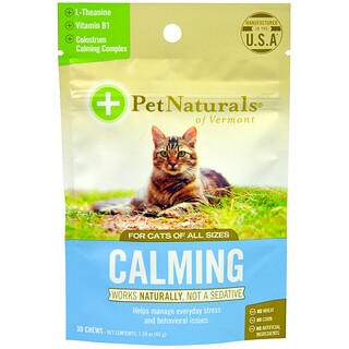 Pet Naturals of Vermont, Calmante, Para gatos, 30 Masticables, 1.59 oz (45 g)