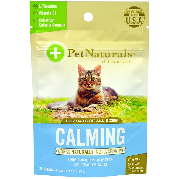 Pet Naturals Of Vermont Calming Chews For Cats  Chews