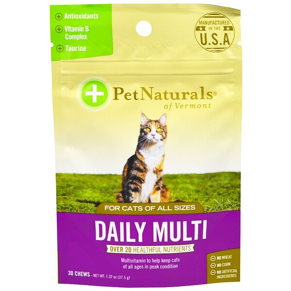 Daily Multi, For Cats, 30 Chews, 1.32 oz (37.5 g)
