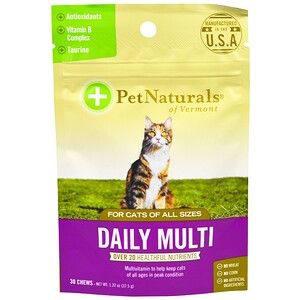 Пэт Нэчуралс оф Вермонт, Daily Multi, For Cats, 30 Chews, 1.32 oz (37.5 g) отзывы покупателей