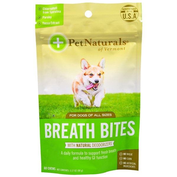 Pet Naturals of Vermont, Breath Bites, For Dogs, 60 Chews, 3.17 oz (90 g) (Discontinued Item)
