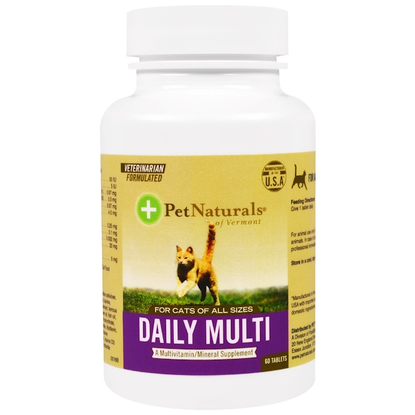 Pet Naturals of Vermont, Daily Multi, For Cats, 60 Tablets (Discontinued Item)