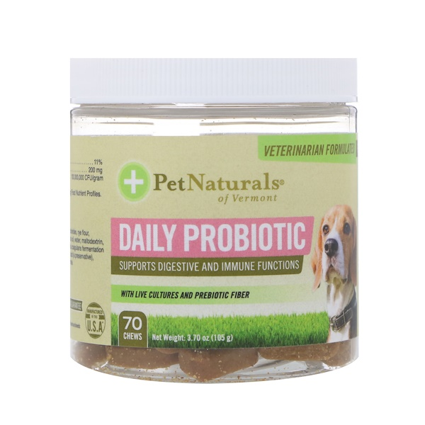 Daily Probiotic, For Dogs, 70 Chews, 3.70 oz (105 g)