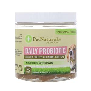 Пэт Нэчуралс оф Вермонт, Daily Probiotic, For Dogs, 70 Chews, 3.70 oz (105 g) отзывы