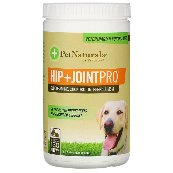 Pet Naturals of Vermont, Hip + Joint Pro, For Dogs, 130 Chews, 18.34 oz (520 g)
