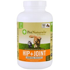 Pet Naturals of Vermont, Hip + Joint, For Dogs and Cats, 160 Chews