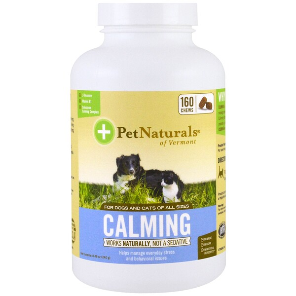 Pet Naturals of Vermont, Calming, For Dogs and Cats, 160 Chews, 8.46 oz (240 g)
