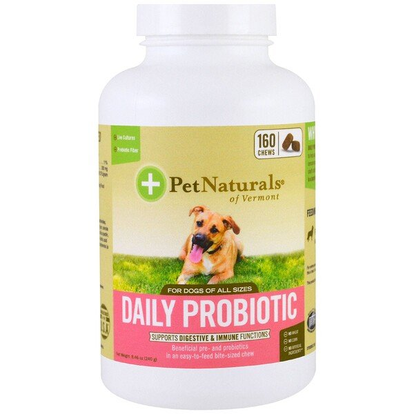 Pet Naturals of Vermont, Daily Probiotic, For Dogs of All Sizes, 160 Chews, 8.46 oz (240 g)