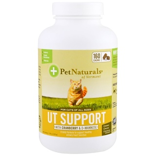 Pet Naturals of Vermont, UT Support, For Cats, With Cranberry & D-Mannose, 160 Chews