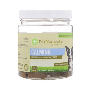 Pet Naturals of Vermont, Calming, For Medium & Large Dogs, 30 Chews, 3.39 oz (96 g)
