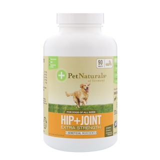 Pet Naturals of Vermont, Hip + Joint, Extra Strength, For Dogs Of All Sizes, 90 Tablets