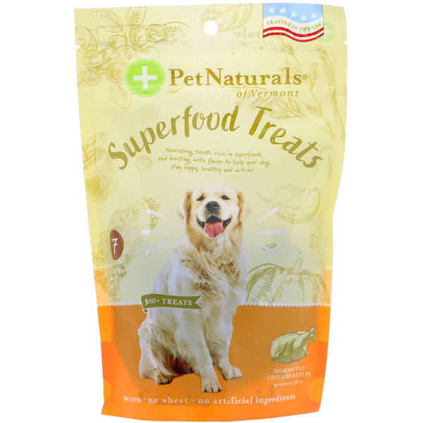 Pet Naturals of Vermont, Gâteries Superfood pour chiens, Recette de poulet fait maison, plus de 100 gâteries, 240 g (8,5 oz) (Discontinued Item)