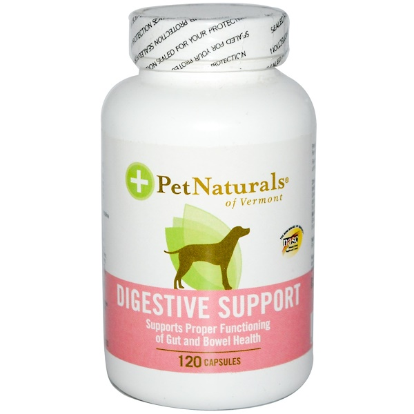 Pet Naturals of Vermont, Digestive Support for Dogs, 120 Capsules (Discontinued Item)