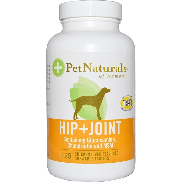 Pet Naturals of Vermont, Hip + Joint, For Dogs, Chicken Liver Flavored, 120 Chewable Tablets (Discontinued Item)
