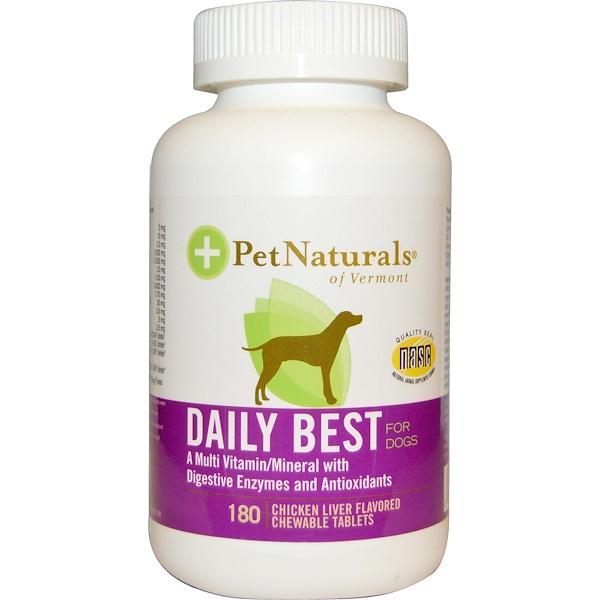 Pet Naturals of Vermont, Daily Best для собак, со вкусом куриной печени, 180 жевательных таблеток (Discontinued Item)