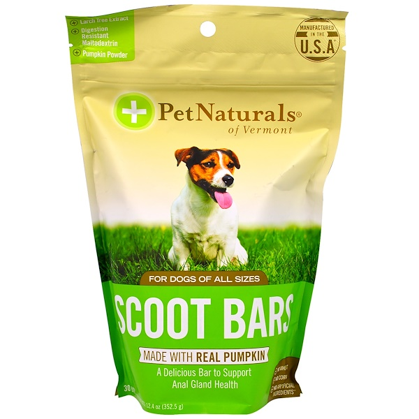 Pet Naturals of Vermont, Scoot Bars, For Dogs, 30 Bars, 12.4 oz (352.5 g) (Discontinued Item)