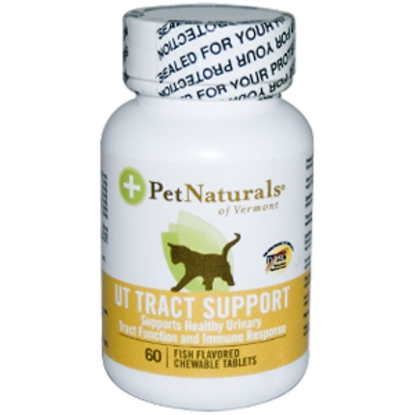 Pet Naturals of Vermont, UT Tract Support for Cats, 60 Fish Flavored Chewable Tablets (Discontinued Item)