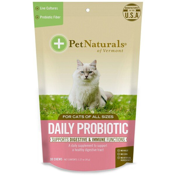 Daily Probiotic, For Cats, 30 Chews, 1.27 oz (36 g)