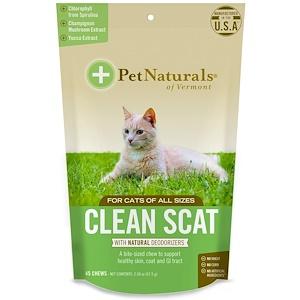 Пэт Нэчуралс оф Вермонт, Clean Scat, For Cats, 45 Chews, 2.38 oz (67.5 g) отзывы