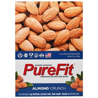 Pure Fit Bars, Premium Nutrition Bars, Almond Crunch, 15 Bars, 2 oz (57 g) Each