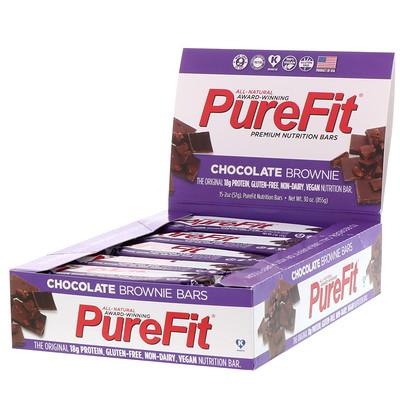 Фото - Premium Nutrition Bars, Chocolate Brownie Батончики, 15 штук по 2 унции (57 г) каждая premium nutrition bars хрустящие ириски с арахисовым маслом 15 батончиков по 2 унции 57 г каждый