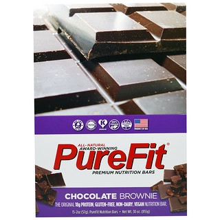 Pure Fit Bars, Premium Nutrition Bars, Chocolate Brownie, 15 Bars, 2 oz (57 g) Each