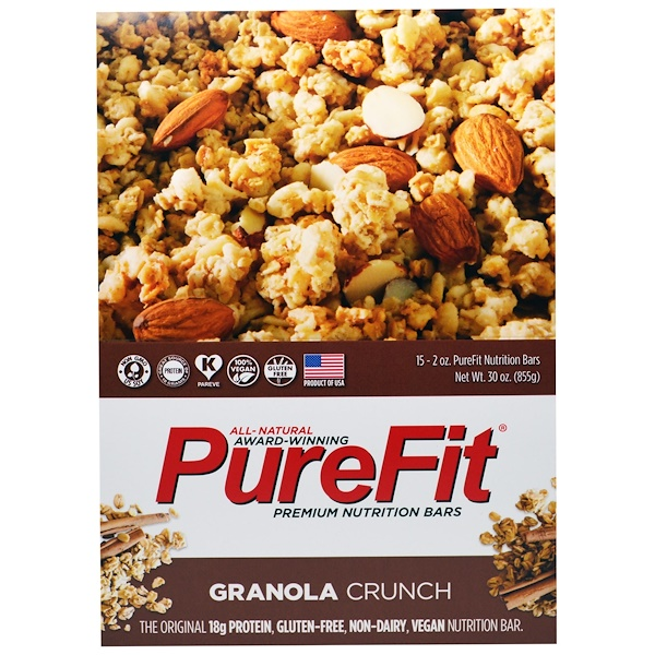 PureFit Bars, Premium Nutrition Bars, Granola Crunch, 15 Bars, 2 oz (57 g) Each (Discontinued Item)