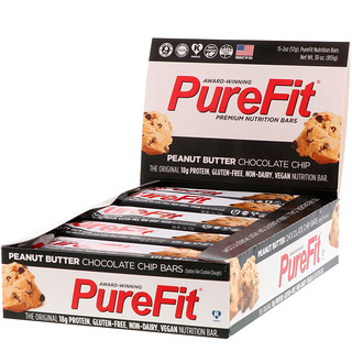 PureFit Bars, Premium Nutrition Bars, Peanut Butter Chocolate Chip, 15 Bars, 2 oz (57 g) Each