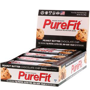 Пуре Фит Барс, Premium Nutrition Bars, Peanut Butter Chocolate Chip, 15 Bars, 2 oz (57 g) Each отзывы покупателей