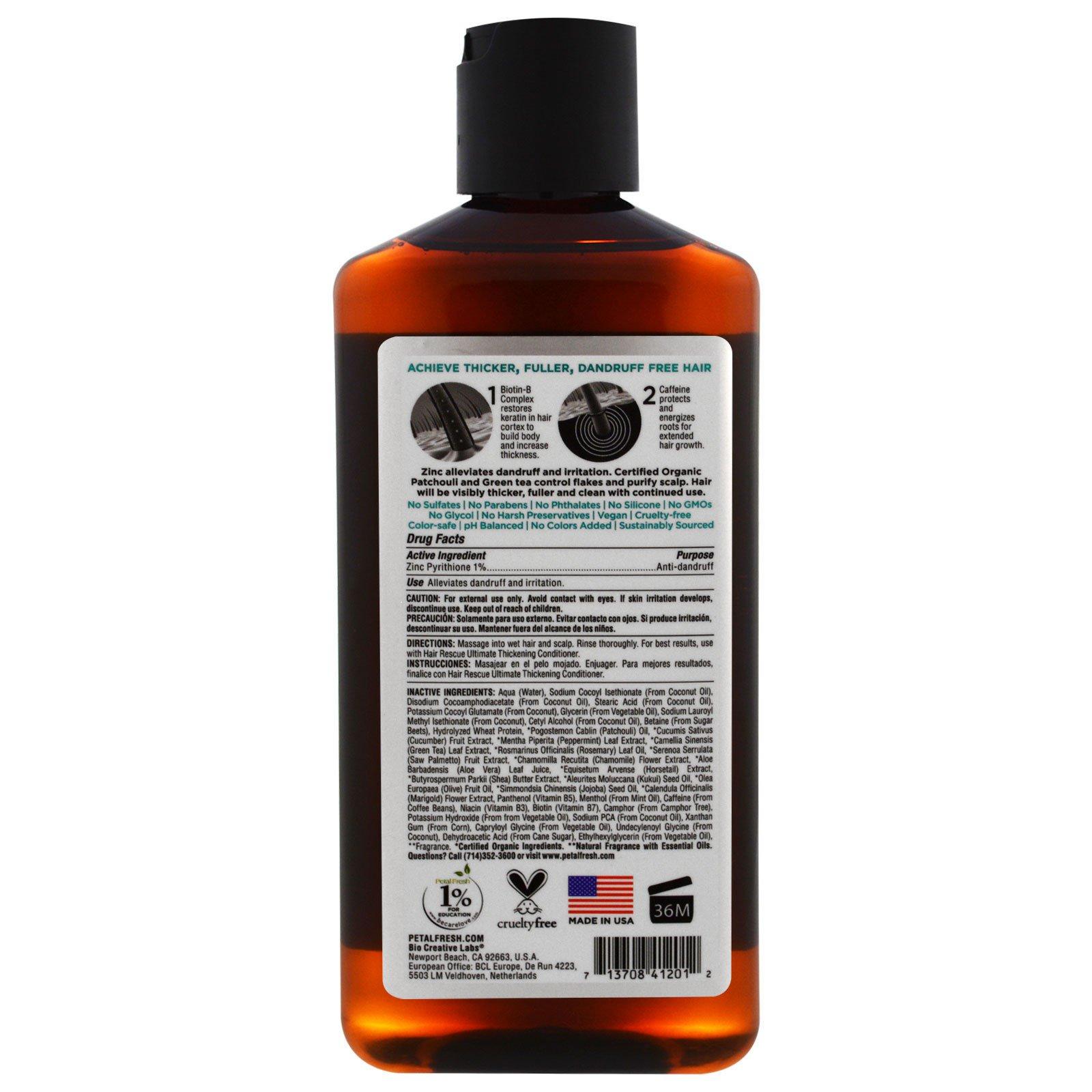 Petal Fresh Pure Hair Rescue Thickening Treatment Anti Dandruff