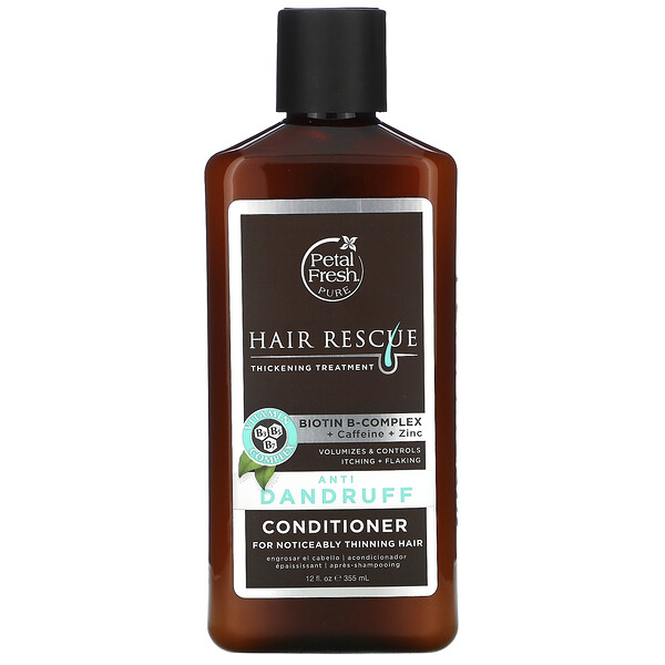 Pure, Hair Rescue Thickening Treatment Conditioner, Anti Dandruff, 12 fl oz (355 ml)