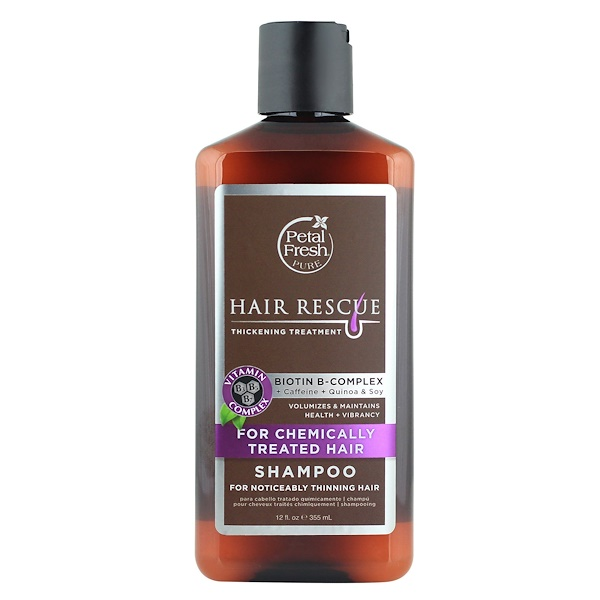 Petal Fresh, Pure, Hair Rescue, Thickening Treatment Shampoo, for Chemically Treated Hair, 12 fl oz (355 ml)