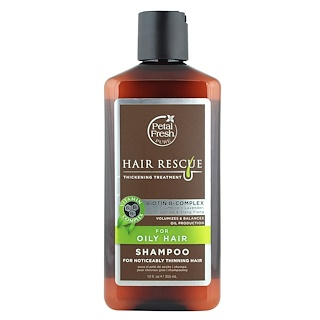Petal Fresh, Pure, Hair Rescue, Thickening Treatment Shampoo,  for Oily Hair, 12 fl oz (355 ml)