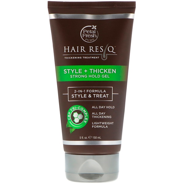 Hair ResQ, Thickening Treatment, Style + Thicken Strong Hold Gel, 5 fl oz (150 ml)
