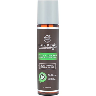 Petal Fresh, Hair ResQ, Thickening Treatment, Style + Thicken, Strong Hold Hair Spray, 8 fl oz (240 ml)