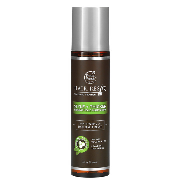 Hair ResQ, Thickening Treatment, Style + Thicken, Strong Hold Hair Spray, 8 fl oz (240 ml)