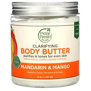 Petal Fresh, Mantequilla corporal con efecto aclarante, Mandarina y mango, 237ml (8oz)
