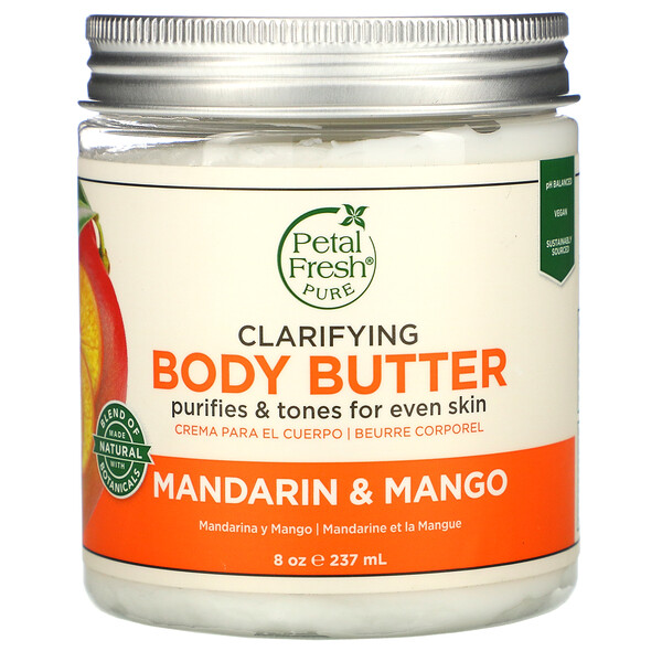 Clarifying Body Butter, Mandarin & Mango, 8 oz (237 ml)