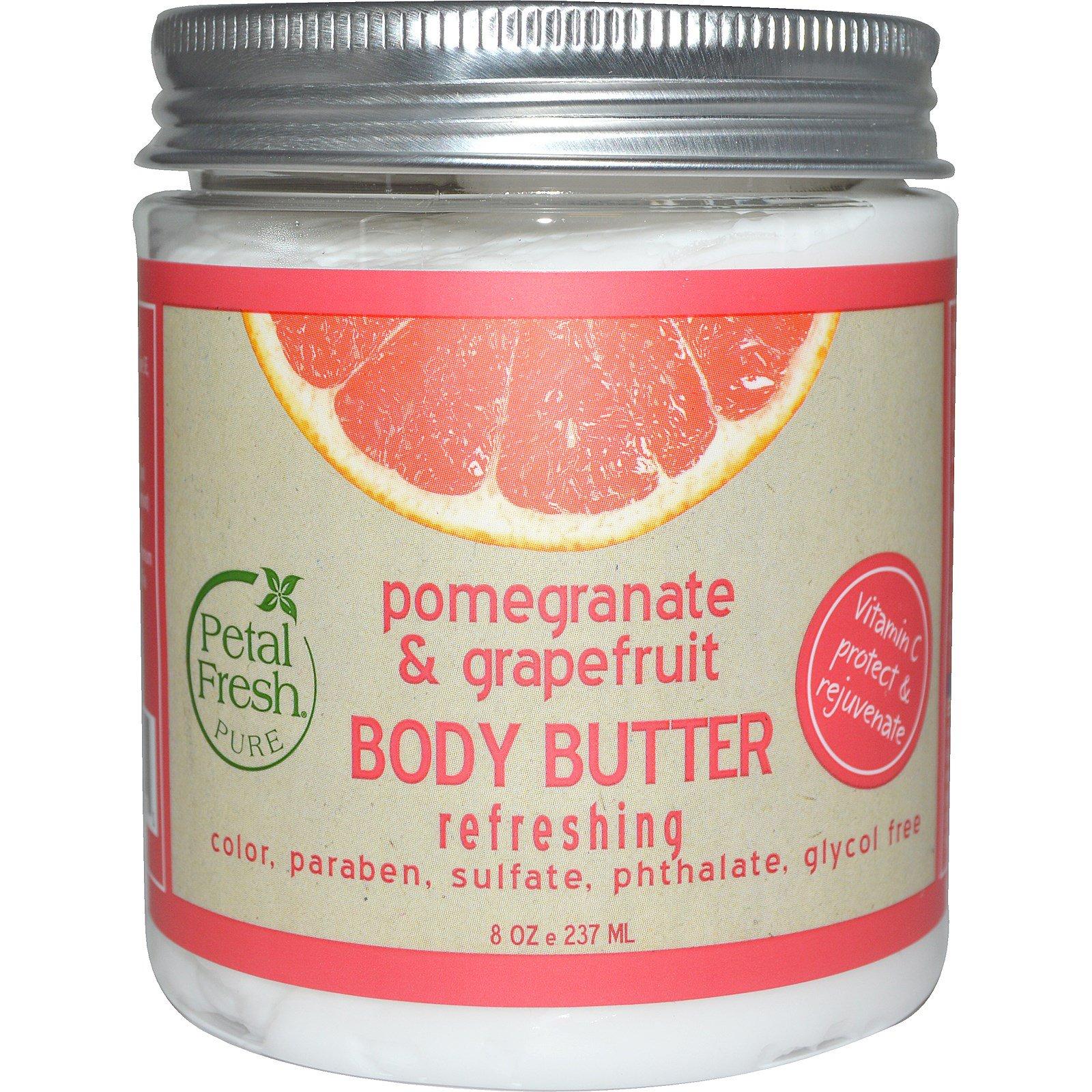 Petal Fresh, Pure, Body Butter, Refreshing, Pomegranate ...