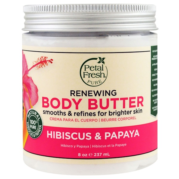 Pure, Body Butter, Renewing, Hibiscus & Papaya, 8 oz (237 ml)