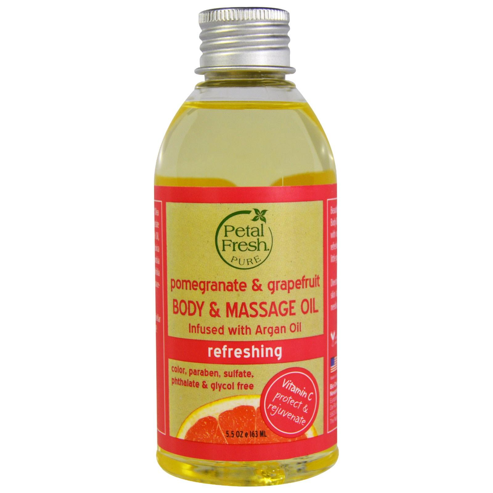Petal Fresh, Pure, Pomegranate & Grapefruit Body Oil, 5.5 oz