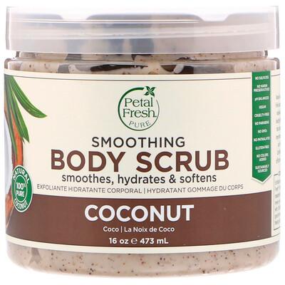 Купить Pure, Smoothing Body Scrub, Coconut, 16 oz (473 ml)