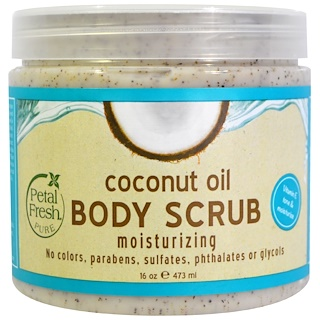 Petal Fresh, Pure, Body Scrub, Moisturizing, Coconut Oil, 16 oz (473 ml)