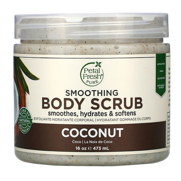 Smoothing Body Scrub, Coconut, 16 oz (473 ml)