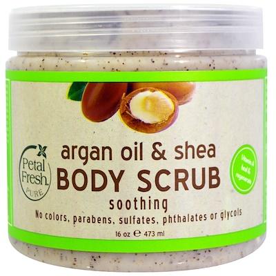 Купить Pure, Скраб для тела с маслом арганы и ши, 16 унций (473 мл)