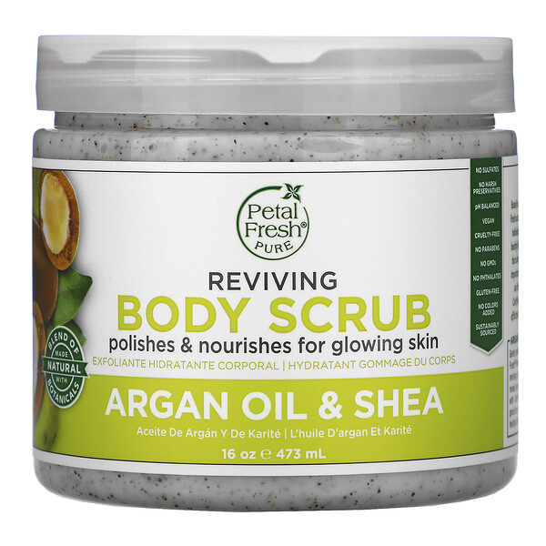 Pure, Argan Oil & Shea Body Scrub, 16 oz (473 ml)