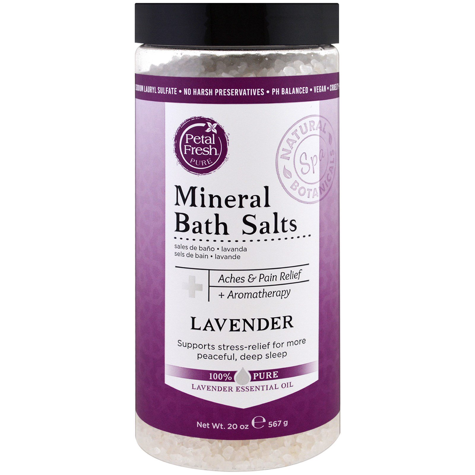 Petal Fresh,  Минеральная соль для ванн, лаванда, 20 унций (567 г)