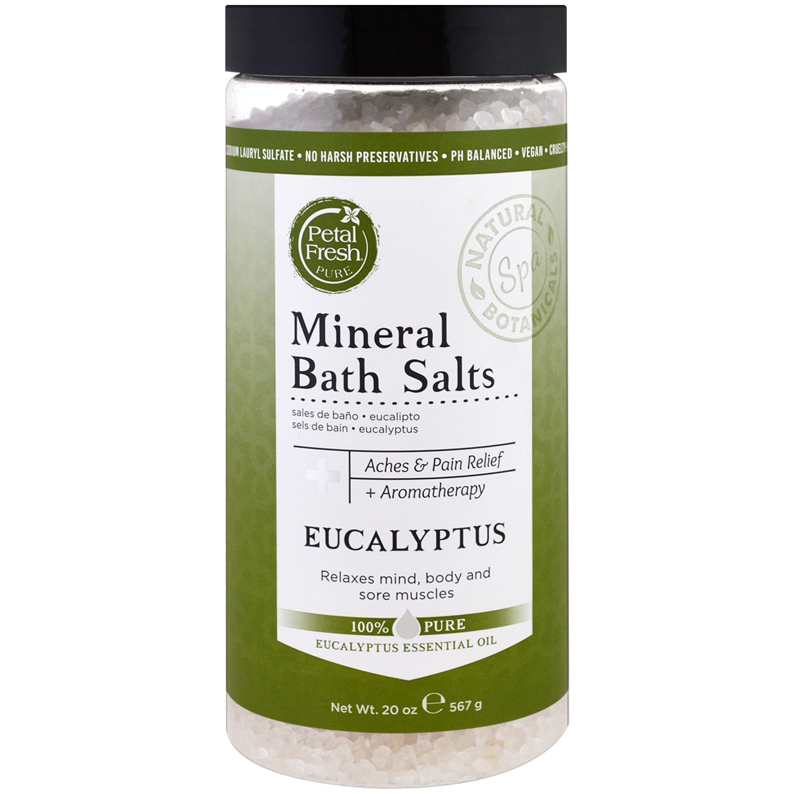 Petal Fresh, Минеральная соль для ванн, эвкалипт, 20 унций (567 г)