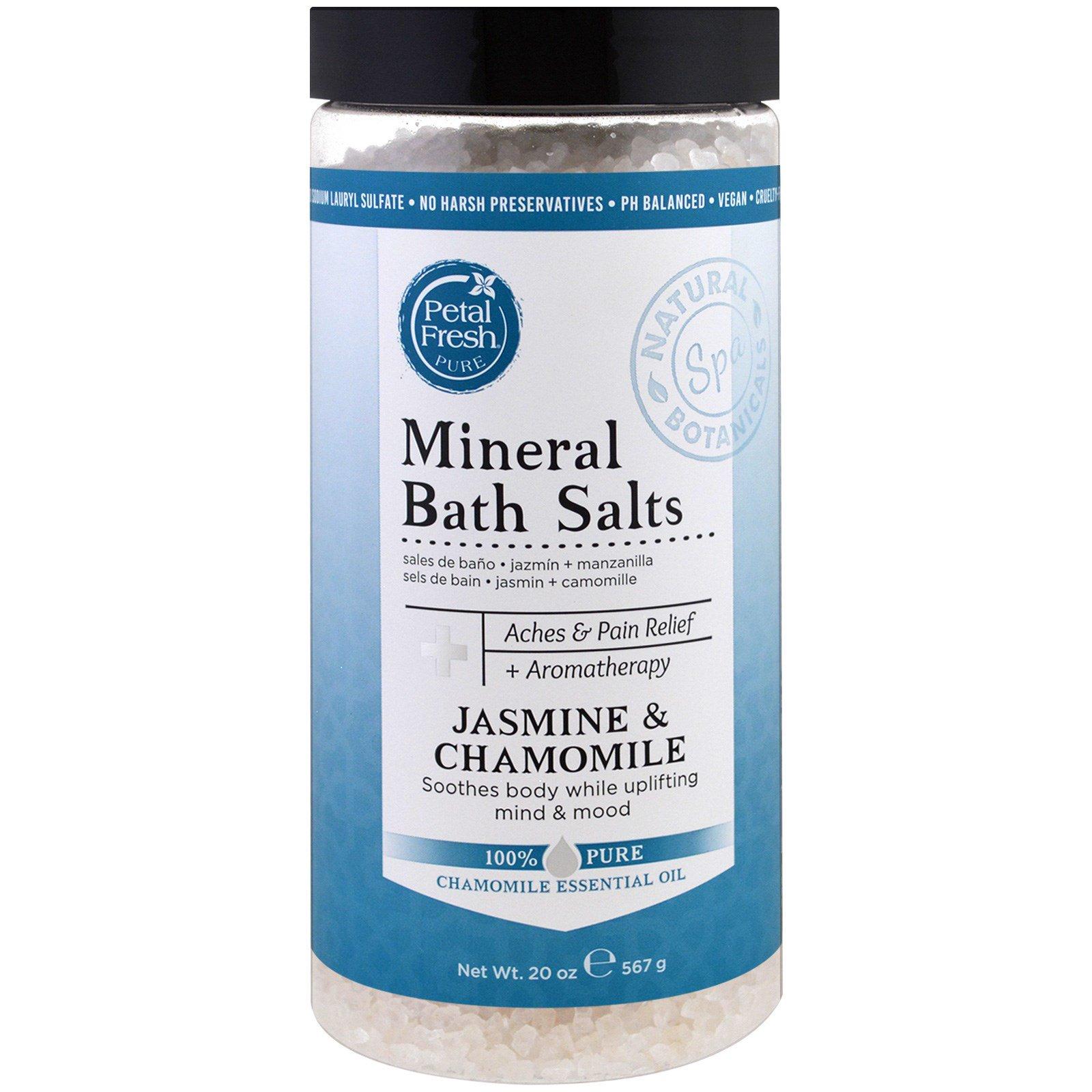 Petal Fresh, Минеральная соль для ванн, жасмин и ромашка, 20 унций (567 г)