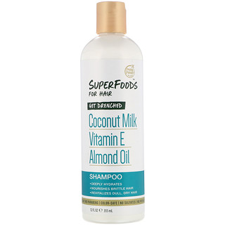 Petal Fresh, Pure, SuperFoods for Hair, Get Drenched Shampoo, Coconut Milk, Vitamin E & Almond Oil, 12 fl oz (355 ml)